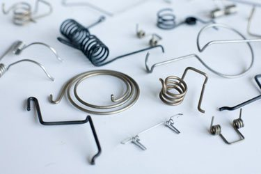 range of leg springs and bending parts